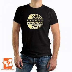 Główny piwowar - męskie koszulki z nadrukiem