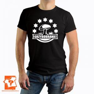 Grzybobranie - męska koszulka z nadrukiem dla miłośników grzybów