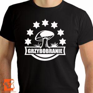 Grzybobranie - męskie koszulki z nadrukiem dla miłośników grzybów