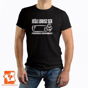Jeśli lubisz sex pokochasz nurkowanie - koszulka z nadrukiem