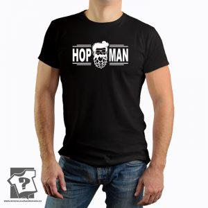 Koszulki dla piwoszy, hop man - męska koszulka z nadrukiem