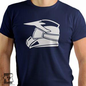 Koszulka kask motocrossowy - koszulka z nadrukiem