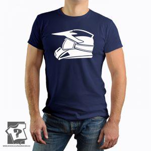 Koszulka kask motocrossowy - koszulki z nadrukiem