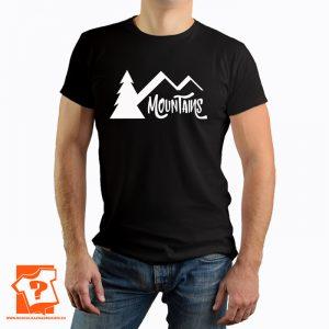 Koszulka mountains - męska koszulka z nadrukiem dla miłośników gór