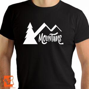 Koszulka mountains - męskie koszulki z nadrukiem dla miłośników gór