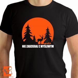 Koszulka nie zadzieraj z myśliwym - męskie koszulki z nadrukiem