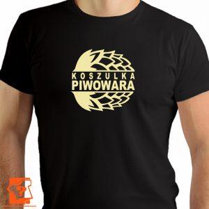 Koszulka piwowara piwosza, męska koszulka z nadrukiem, prezent dla piwowara