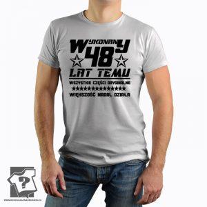 Koszulka z nadrukiem Wykonany 48 Lat Temu prezent na urodziny