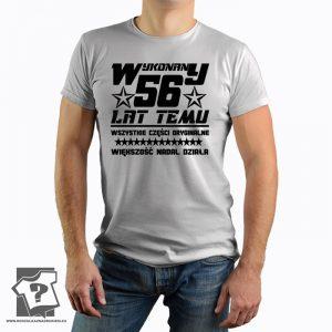 Koszulka z nadrukiem Wykonany 56 Lat Temu prezent na urodziny