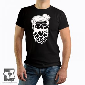 Koszulki dla piwoszy, twarz piwosza - męska koszulka z nadrukiem