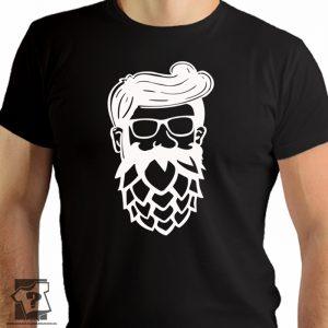 Koszulki dla piwoszy, twarz piwosza - męskie koszulki z nadrukiem