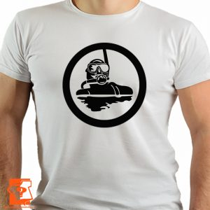 Koszulki nurek - męskie koszulki z nadrukiem dla nurków
