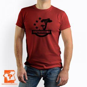Męska koszulka grzybobranie - męska koszulka z nadrukiem