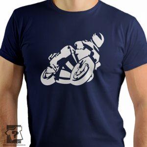 Motocykle - męska koszulka z nadrukiem dla miłośników motocykli