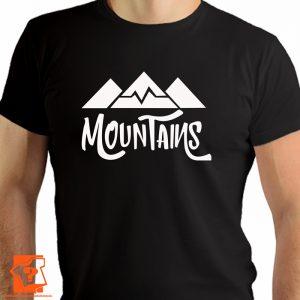 Mountains - męskie koszulki z nadrukiem dla miłośników gór