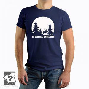 Nie zadzieraj z myśliwym - męska koszulka z nadrukiem