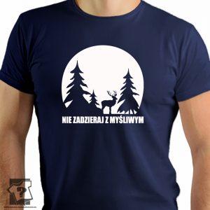 Nie zadzieraj z myśliwym - męskie koszulki z nadrukiem