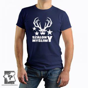 Szalony myśliwy - męska koszulka z nadrukiem