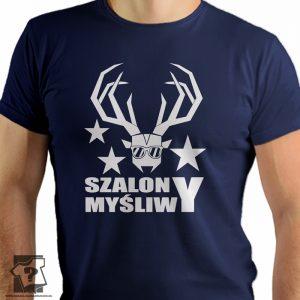 Szalony myśliwy - męskie koszulki z nadrukiem
