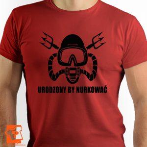 Urodzony by nurkować - koszulka z nadrukiem dla nurków