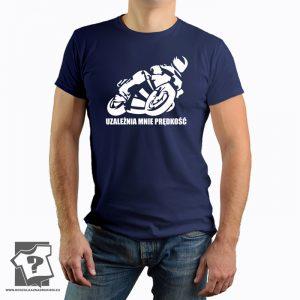 Uzależnia mnie prędkość - koszulki z nadrukiem