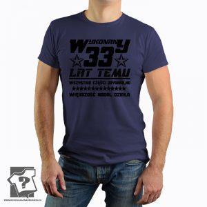 Koszulka z nadrukiem Wykonany 33 Lat Temu prezent na urodziny