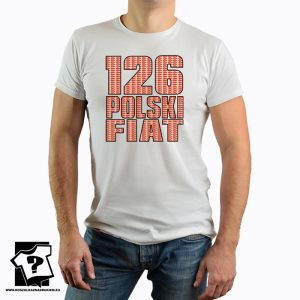 126 polski fiat - retro koszulka z nadrukiem