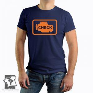 Check engine - koszulka z nadrukiem dla mechanika