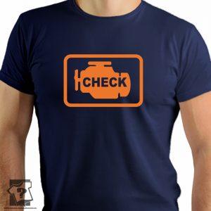 Check engine - koszulki z nadrukiem dla mechanika