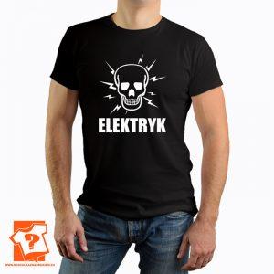 Elektryk - męska koszulka z nadrukiem dla elektryka