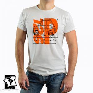 Fiat 126p - polski fiat 126p - PRL - FSM - koszulka z nadrukiem