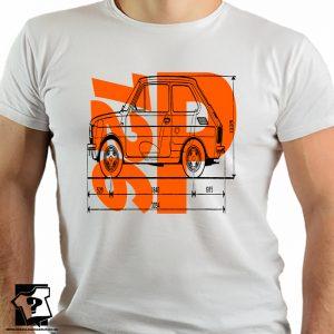 Fiat 126p - polski fiat 126p - PRL - FSM - koszulki z nadrukiem