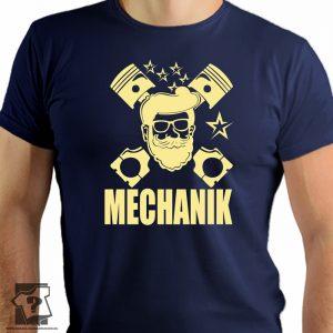 Koszulka dla mechanika - męska koszulka z nadrukiem dla mechaników