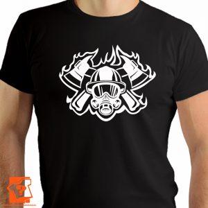 Koszulka dla strażaka - prezent dla strażaka - koszulki z nadrukiem