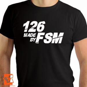 Koszulka polski fiat - 126 made by fsm - koszulki z nadrukiem