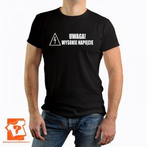 Koszulka uwaga wysokie napięcie - koszulka z nadrukiem