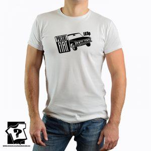 Koszulka z nadrukiem z czasów PRL - fiat 125p