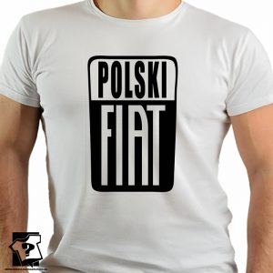 Koszulki z nadrukiem z czasów PRL - polski fiat