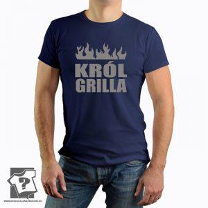 Król grilla - koszulka z nadrukiem