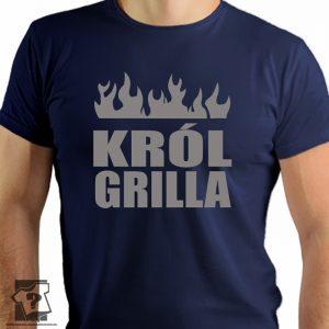 Król grilla - koszulki z nadrukiem