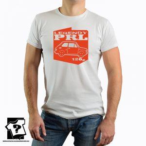Legendy PRL - fiat 126p - koszulka z nadrukiem