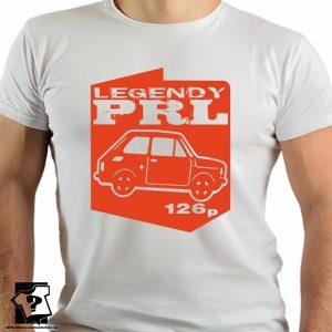 Legendy PRL - fiat 126p - koszulki z nadrukiem