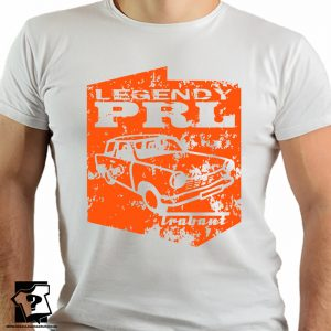 Legendy PRL - koszulka trabant - koszulki z nadrukiem