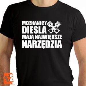Mechanicy diesla mają największe narzędzia - koszulki z nadrukiem