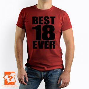 Męska koszulka best 18 ever - prezent na 18 urodziny - koszulka z nadrukiem