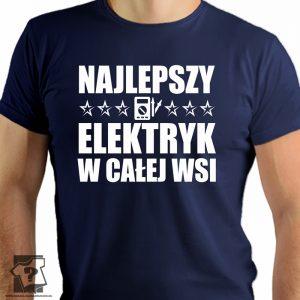 Najlepszy elektryk w całej wsi - koszulki z nadrukiem