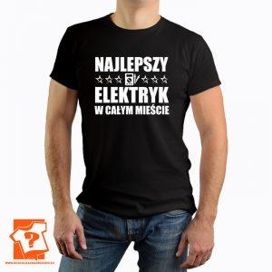Najlepszy elektryk w całym mieście - koszulka z nadrukiem