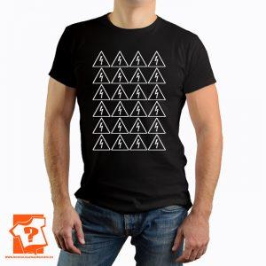 Nie dotykać urządzenie elektryczne logo - koszulka z nadrukiem