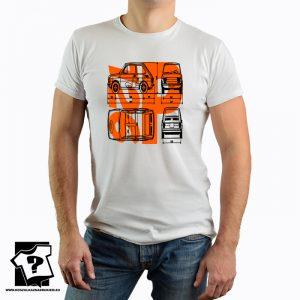 Polski fiat 126p - koszulka retro - PRL - FSM - koszulka z nadrukiem