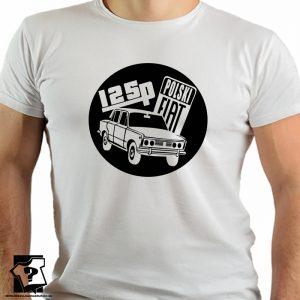 Retro koszulki z nadrukiem - 125p polski fiat